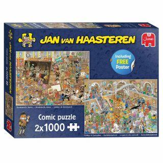 Jan van Haasteren -A Day to the Museum, 2x 1000st.