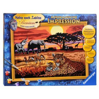 Painting By Numbers African Impression