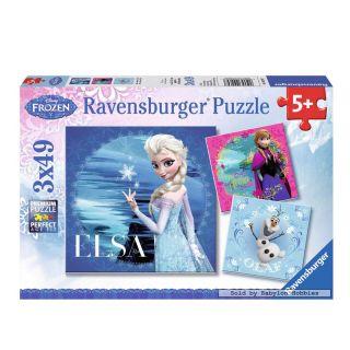 Disney Frozen Puzzle: Elsa, Anna & Olaf, 3x49st.