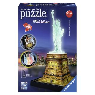 Ravensburger 3D puzzle-statue of liberty Night Edition
