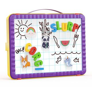 Quercetti Magnetic Board Letters in Storage Case