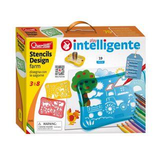 Quercetti Stencil Design Set Farm