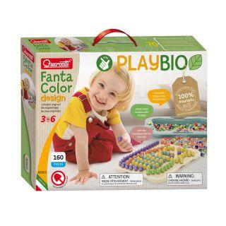 Quercetti PlayBio Fantacolor Design, 160 pcs