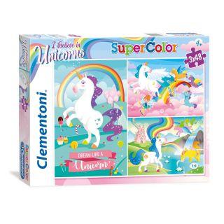 Clementoni Brilliant Puzzle Unicorn, 3x48st.
