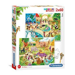 Clementoni Puzzle Zoo, 2x60st.