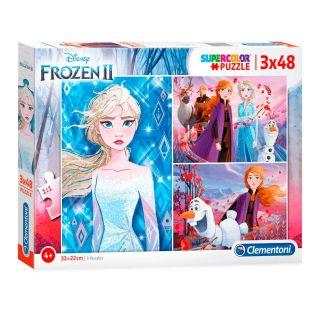 Clementoni Puzzle Disney Frozen 2, 3x48st.