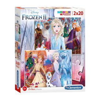 Clementoni Puzzle Disney Frozen 2, 2x20 pcs.