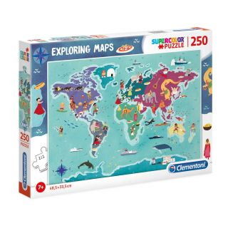 Clementoni World Map Puzzle Traditions, 250st.