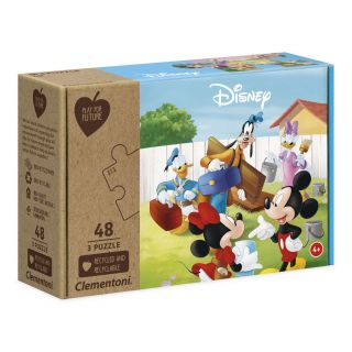 Clementoni Play for Future Puzzle - Mickey Mouse, 3x48pcs.