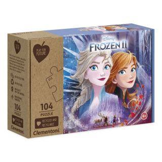 Clementoni Puzzle enfant la Reine des Neiges 2 - 104 pièces