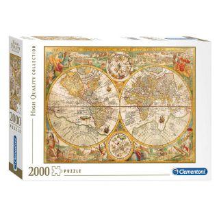 Clementoni Puzzle Antique World Map, 2000 pcs.
