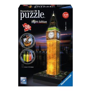 Big Ben 3D Puzzle-Ravensburger Night Edition