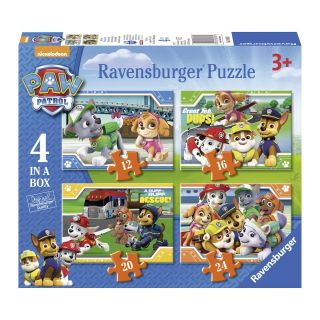 Paw Patrol Puzzle, 4in1