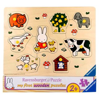 Navel puzzle Miffy on the Farm, 8st.