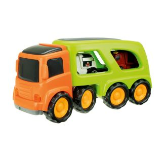 Cars & Trucks Transporter with Emergency Cars