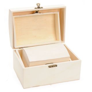 Decorate your own Wooden treasure chest, 3pcs.