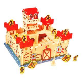 Jouet-Plus Château en bois avec accessoires