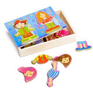Jouet-Plus Puzzle à habiller fille ou garçon en bois
