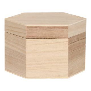 Jouet-plus Coffret en bois hexagonale à décorer