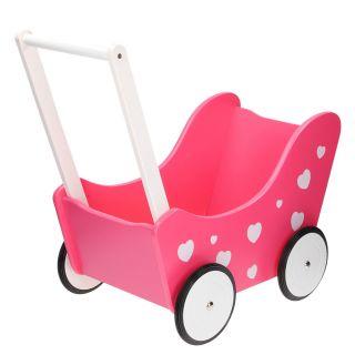 Jouet-Plus Landau pour poupées rose avec des cœurs