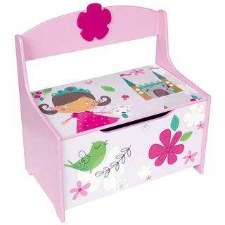 Jouet-Plus Coffre à jouet et banc en bois Princesse