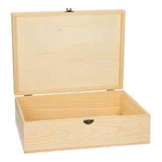 Jouet-Plus Grande boîte de rangement en bois à décorer, modèle aléatoire SL049