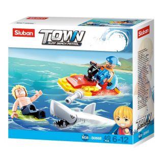 Sluban Beach Rescue - Watercraft and Shark