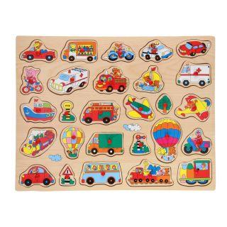 Wooden Nopjes Puzzle XL - Vehicles