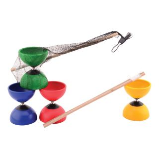 Diabolo Colored with Wooden Sticks