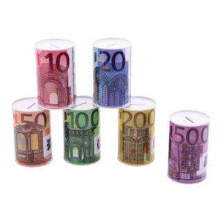 Money box Euro note