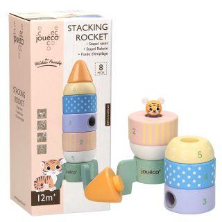 Joueco Wooden Stack Rocket