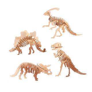 Wooden Building Kit Dinosaur 3D