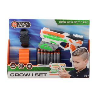 Tack Pro® Crow I Set with 14 darts and accessories, 18cm