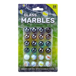 Knikkerbaan Marbles on Card, 24st.