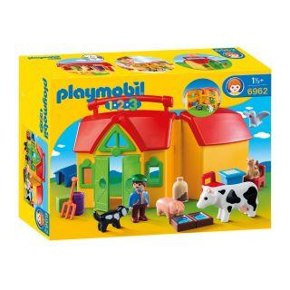 Playmobil® 1.2.3 - 6962 - Ferme transportable avec animaux