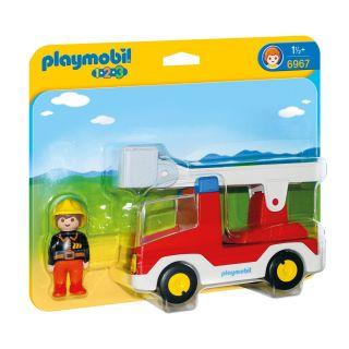 Playmobil® 1.2.3 - 6967 - Camion de pompier avec échelle pivotante