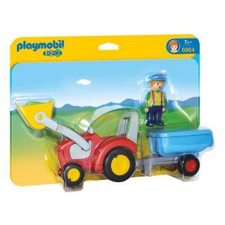 Playmobil® 1.2.3 - 6964 - Fermier avec tracteur et remorque