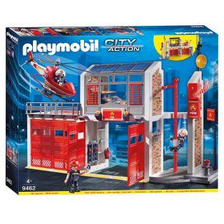 Playmobil® City Action - 9462 - Caserne de pompiers avec hélicoptère
