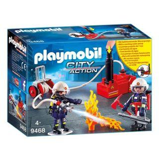 Playmobil® City Action - 9468 - Pompiers avec matériel d'incendie