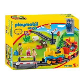 Playmobil® 1.2.3 - 70179 - Train avec passagers et circuit