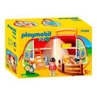 Playmobil® 1.2.3 - 70180 - Centre équestre transportable