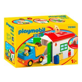 Playmobil® 1.2.3 - 70184 - Ouvrier avec camion et garage