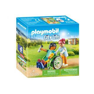Playmobil® City Life - 70193 - Patient en fauteuil roulant