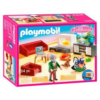Playmobil® Dollhouse - 70207 - Salon avec cheminée