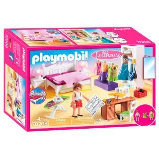 Playmobil® Dollhouse - 70208 - Chambre avec espace couture