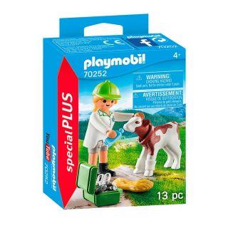Playmobil® Special Plus - 70252 - Vétérinaire et veau