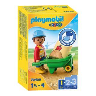 Playmobil 70409 Construction Worker with Wheelbarrow
