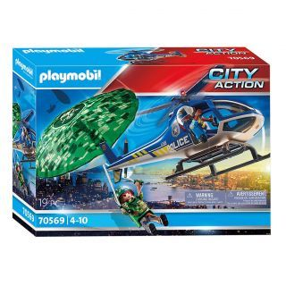 Playmobil 70569 Police Helicopter - Parachute Chase