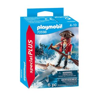 Playmobil 70598 Pirate with Raft and Hammerhead Shark