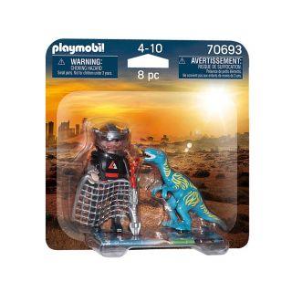 Playmobil 70693 DuoPack Velociraptor vs Poacher